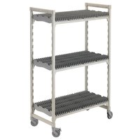 Cambro Camshelving Premium CPMU244875DRPKG Speckled Gray Drying Rack Cart 24 inch x 48 inch x 75 inch