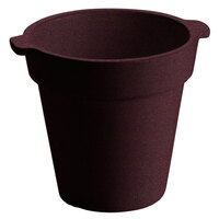 Tablecraft CW1440 1.75 Qt. Round Maroon Speckle Condiment Crock / Bowl