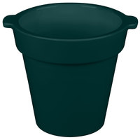 Tablecraft CW1440 1.75 Qt. Round Hunter Green Condiment Crock / Bowl