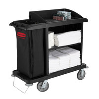 Rubbermaid 6190 Compact Housekeeping Cart (FG619000BLA)