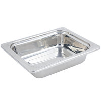 Bon Chef 5309 11 inch x 13 inch x 3 inch Stainless Steel 3 Qt. Half Size Rectangular Bolero Design Food Pan