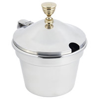 Bon Chef 5214WHC 12 inch x 8 inch Stainless Steel 11 Qt. Plain Design Soup Tureen with Hinged Cover
