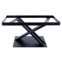 Elite Global Solutions 9 inch PC179 Rectangular Black Metal Stand for M1020 Melamine Shelves