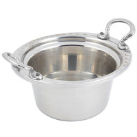 Bon Chef 5650HRSS 10 inch x 9 inch x 5 inch Stainless Steel 2 Qt. Arches Design Casserole with Round Stainless Steel Handles