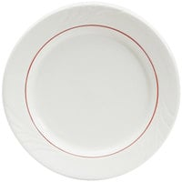 Tuxton YBA-9 Monterey 9 inch China Plate with Berry Band - 24/Case