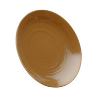 Elite Global Solutions D117RR Pebble Creek Tapenade-Colored 11 7/8 inch Round Plate
