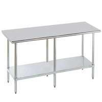 """Advance Tabco MG-3612 36"""" x 144"""" 16 Gauge Stainless Steel Commercial Work Table with Galvanized Steel Undershelf"""