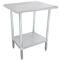 "Advance Tabco MG-363 36"" x 36"" 16 Gauge Stainless Steel Commercial Work Table with Galvanized Steel Undershelf"