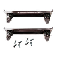 True 872009 4 inch Casters with Frames - 4 / Set