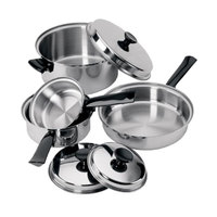 7-Piece Tri-Ply Lodging Industry Cookware Set with Stainless Steel Lids