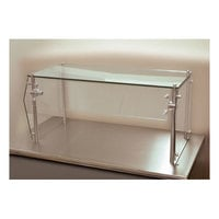 Advance Tabco Sleek Shield GSG-15-72 Single Tier Self Service Food Shield with Glass Top - 15 inch x 72 inch x 18 inch