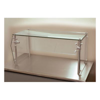 Advance Tabco Sleek Shield GSG-18-120 Single Tier Self Service Food Shield with Glass Top - 18 inch x 120 inch x 18 inch