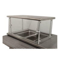 Advance Tabco Sleek Shield NSGC-15-132 Cafeteria Food Shield with Stainless Steel Shelf - 15 inch x 132 inch x 18 inch
