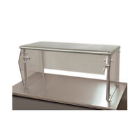 Advance Tabco Sleek Shields NSG-18-60 Single Tier Self Service Food Shield with Stainless Steel Shelf - 18 inch x 60 inch x 18 inch