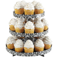 Wilton 1512-0863 3-Tier Damask Disposable Cupcake Treat Stand