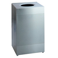 Rubbermaid SC22ERB Silhouettes Silver Metallic Steel Designer Waste Receptacle - 50 Gallon (FGSC22ERBSM)