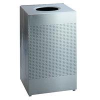 Rubbermaid SC22ERB Silhouettes Silver Metallic Steel Designer Waste Receptacle - 50 Gallon (FGSC22ERBSM)