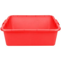 Vollrath 1517-C02 Traex Color-Mate Red 20 inch x 15 inch x 7 inch Perforated Drain Box