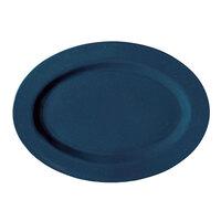 GET OP-120-TB Texas Blue 12 inch Oval Platter - 12/Case