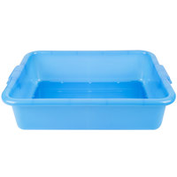 Vollrath 1511-C04 Traex Color-Mate Blue 20 inch x 15 inch x 5 inch Perforated Drain Box