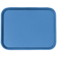 Cambro 1014FF168 10 inch x 14 inch Blue Customizable Fast Food Tray - 24/Case