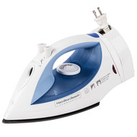 Hamilton Beach HIR400R White Midsize Non-stick Hospitality Iron, Steam & Dry with Auto Shut Off and Retractable Cord - 120V, 1200W