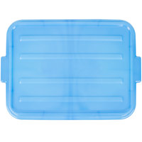 Vollrath 1500-C04 Traex Color-Mate Blue 20 inch x 15 inch x 2 1/2 inch Snap-On Food Storage Box Lid