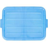 Vollrath 1500-C04 Snap-On Food Storage Box Lid - Traex Color-Mate Blue 20 inch x 15 inch x 2 1/2 inch