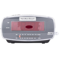 Hamilton Beach HCR400 MP3 Ready AM/FM Black Alarm Clock Radio - 120V, 5W