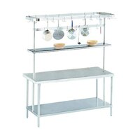 Advance Tabco SCT-84 Smart Fabrication 84 inch Middle Mount Stainless Steel Pot Rack / Utensil Rack