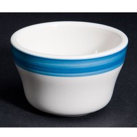 CAC R-4-BLU Rainbow Bouillon Bowl 7.25 oz. - Blue - 36/Case