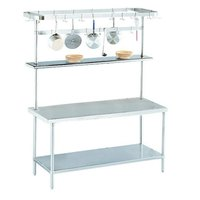 Advance Tabco SWT-60 Smart Fabrication 60 inch Rear or Splash Mount Stainless Steel Pot Rack / Utensil Rack