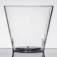 Fineline Tiny Temptations 6406-CL 2.2 oz. Tiny Tumblers Clear Plastic Cup   - 10/Pack