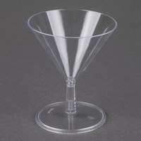 Fineline Tiny Temptations 6401-CL 2 oz. Tiny Tini 2-Piece Clear Plastic Glass 12 / Pack