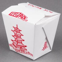 Fold-Pak 08MWPAGODM 8 oz. Pagoda Chinese / Asian Microwavable Paper Take-Out Container - 450 / Case