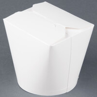 SmartServ 26SSPLAINM 26 oz. White Microwavable Paper Take-Out Container - 500 / Case