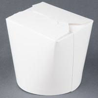 SmartServ 12SSPLAINM 12 oz. White Microwavable Paper Take-Out Container - 500/Case