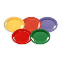 Assorted Color 12 inch x 9 inch Platters - 60/Case