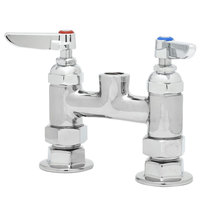T&S B-0325-LNCC Deck Mount Swivel Faucet Base with 4 inch Centers, Eterna Cartridges, and CC Connections