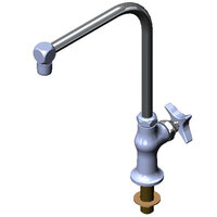 T&S B-0318-03 Single Hole Deck Mount Double Pantry Mixing Faucet with 4 inch Centers, 13 inch Gooseneck, and Eterna Cartridges