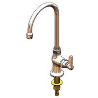 T&S B-0308-QT-WS Deck Mount Pantry Faucet with Single Supply, 10 inch Gooseneck, Quarter Turn Eterna Cartridge, and WaterSense Aerator