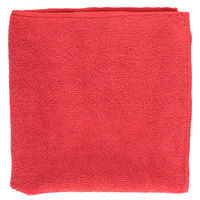 16 inch x 16 inch Red Microfiber Cleaning Cloth
