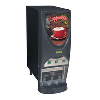 Bunn iMIX-3S+ BLK Powdered Cappuccino Dispenser with 3 Hoppers - 120V (Bunn 38600.0050)