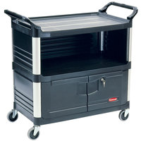 Rubbermaid FG409500BLA Black Xtra Equipment Cart