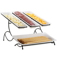 Cal-Mil 1406-15 Iron Four Tray Display - 19 inch x 15 inch x 11 inch