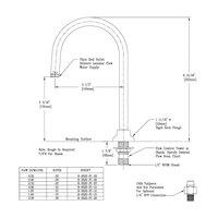 T&S B-0520-F1-15 Deck Mount Rigid Dummy Gooseneck with 1.4 GPM Plain End Outlet