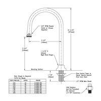 T&S B-0520-F07 Deck Mount Rigid Dummy Gooseneck with 0.7 GPM Stream Regulator