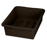 Tablecraft 1557BR Brown 21 inch x 17 inch x 7 inch Heavy Duty Polyethylene Plastic Bus Tub, Bus Box