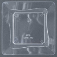 Fineline Tiny Temptations 6200-CL 3 inch x 3 inch Tiny Trays Disposable Clear Plastic Tray 10 / Pack