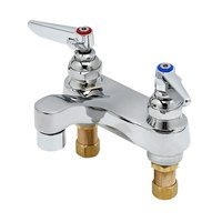 T&S B-0871CR-PRISON Vandal Resistant 1.0 GPM Deck Mount Centerset Chrome Plated Brass Faucet with 4 inch Centers and Cerama Cartridges